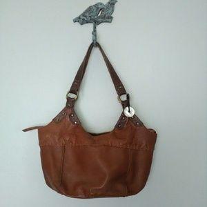 The Sak boho brown leather bag